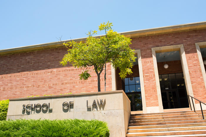 Front entrance of a law school