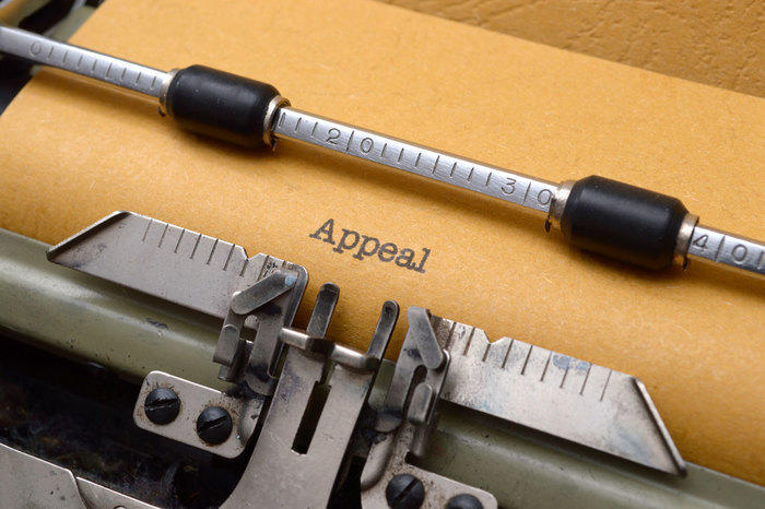 The word appeal typed out on a typewriter