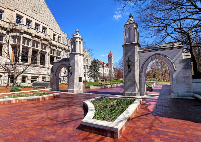 Entrance to Indiana University