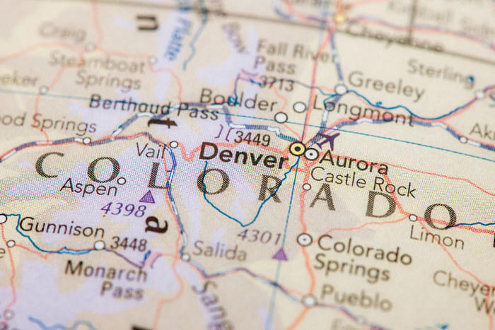 Map of Aurora Colorado