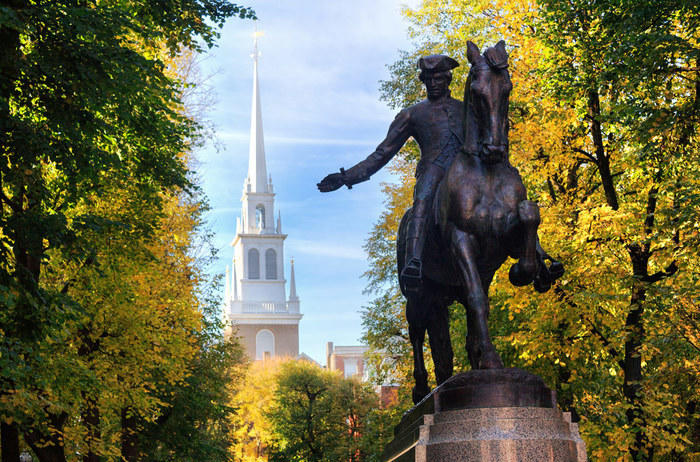Paul Revere statue in Boston