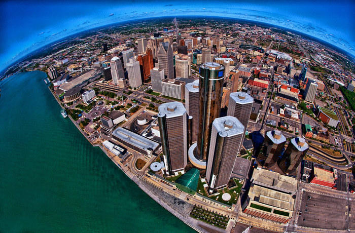 Detroit from above