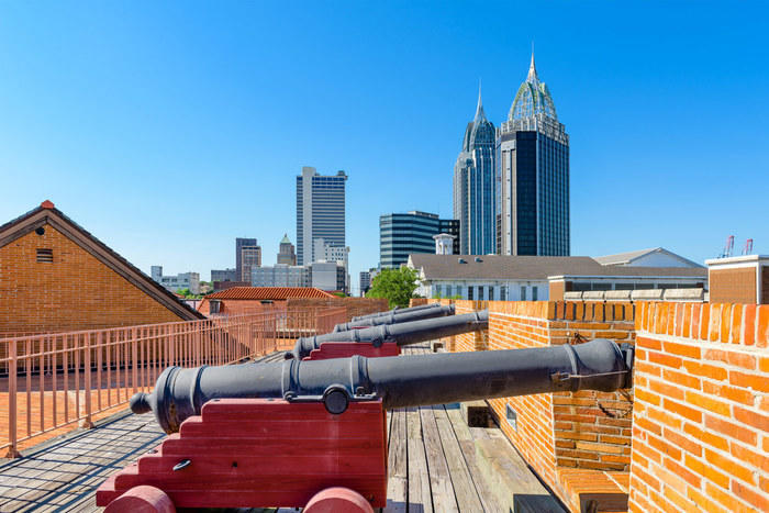 Cannons in Mobile, Alabama