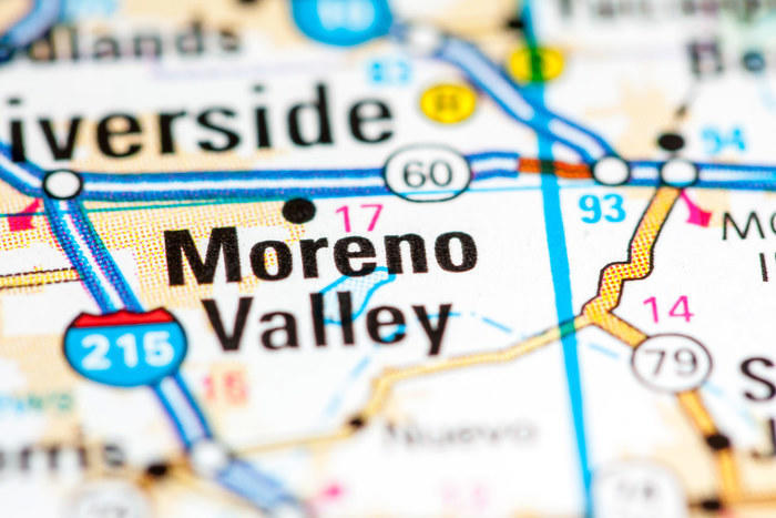 Map of Moreno Valley
