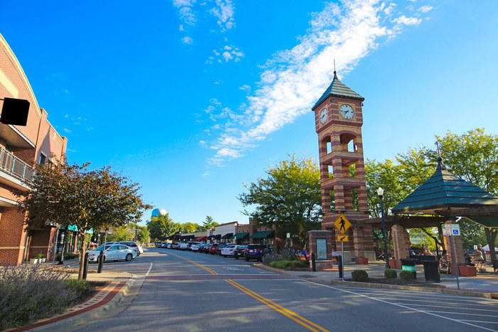 Downtown Overland Park clock tower