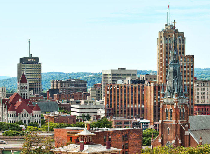 Syracuse, New York cityscape