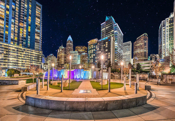 Downtown Park in Charlotte