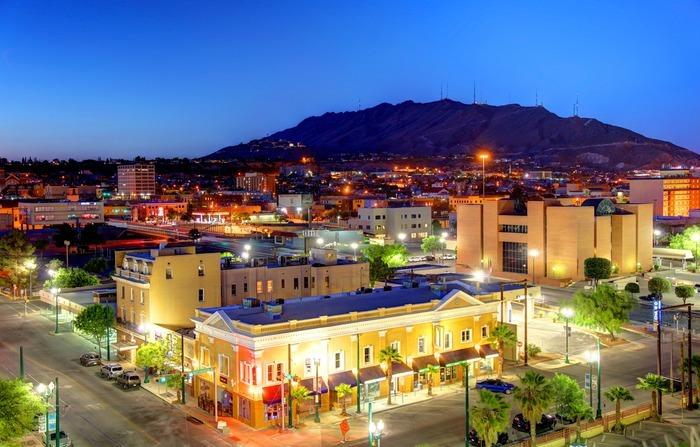 Downtown El Paso in the evening